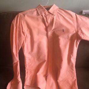 Ralph Lauren Casual Orange Button Down